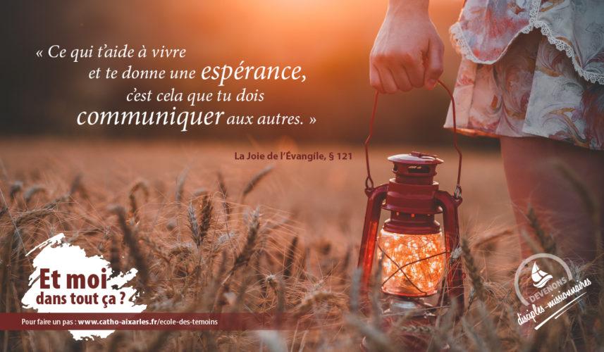 Ecole des témoins - Joie de l'Evangile (1)
